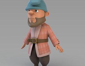 3D model Cartoon Gnome 02