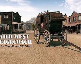 3D model Western Stagecoach