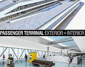 3D asset Port Terminal Building