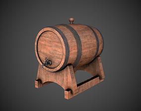 3D model Wine Barrel Dirty