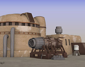 3D Tatooine building 2