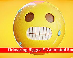 3D model Grimacing Animated Emoji