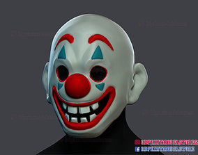 3D print model Joker Movie Clown Mask Cosplay Costume 1