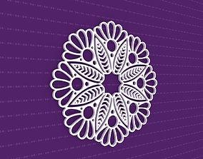 3D Mandala india pattern