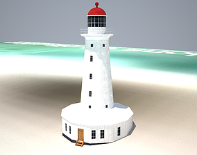 The North Reef Lighthouse Low poly 3D