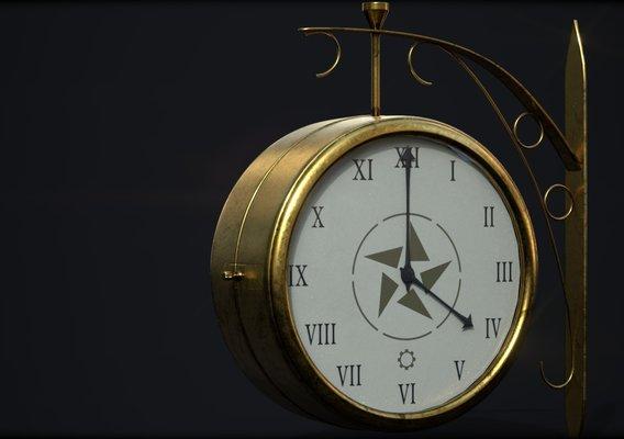 Victorian train station clock (It will pass)