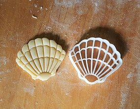 Shell cookie cutter 3D printable model