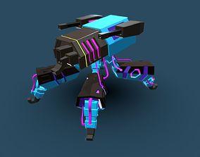3D model mech spider