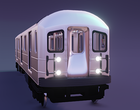 newyork subway train 3D asset
