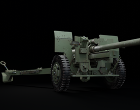 3D model Weapon howitzer 105mm