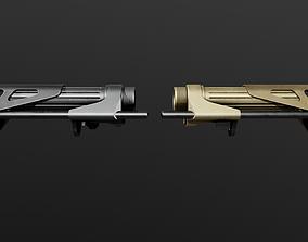 3D asset Maxim Defense CQB7 AR15 Collapsible Buttstock