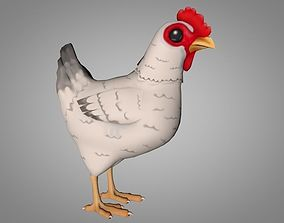 Chicken 3D model animated