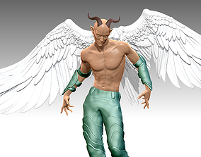 DEMONS Man Wings N 0012 sculpture 3D print 3D model