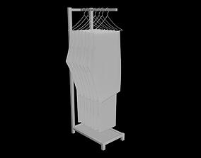 folded hanging jeans pants trousers rack 3D 1