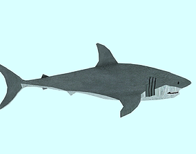 3D asset shark made in blender