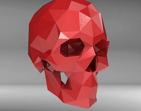 3D printable model Low Poly Skull STL for