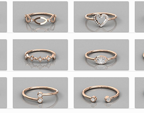 300 solitaire women ring 3dm details bulk collection