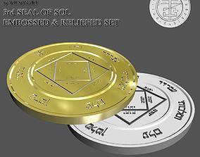 3D printable model 3rd Seal of Sol