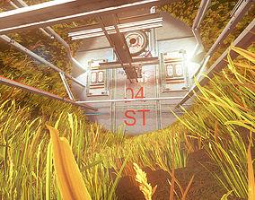 Pro-TEK SciFi VR Space Station - Unreal - Unity - 3D model