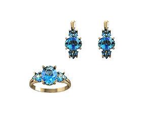 accessory print 3D Jewelry Set