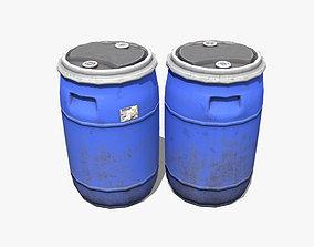 Plastic Barrel 3D model recycling