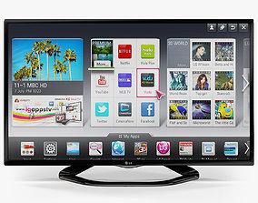 LG 42LN570V smart TV 3D asset