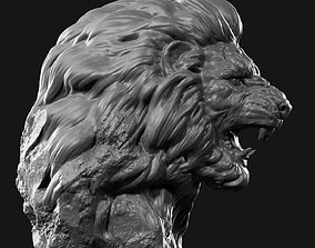 lion face head 3D print model