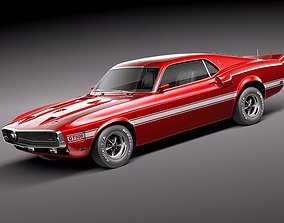 3D Ford Shelby Mustang GT500 1969
