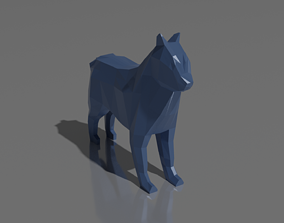 3D printable model Low Poly Dog cute