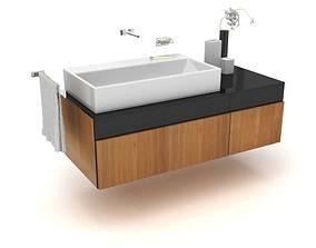 3D model Large Basin Modern Bathroom Sink