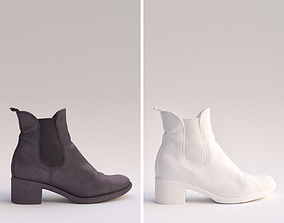 3D Processed Scan - Leather Ankle Boot