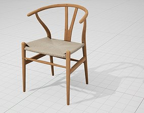 Hans Wegner Wishbone Chair UE4 3D asset