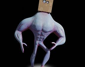 Box Head Dude Rigged 3D asset
