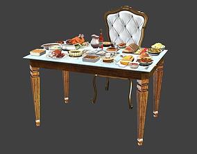 3D model Table Full Of Foods