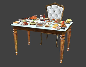 3D model Table Full Of Foods