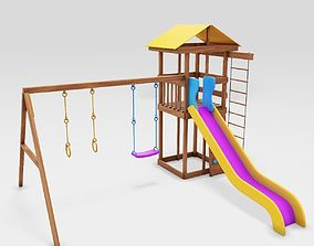 Playground cheerful color 3D asset
