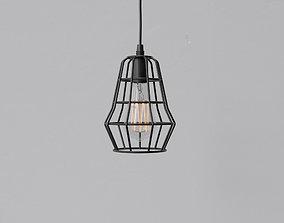 Cage Pendant Light 03 3D