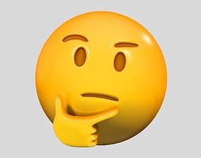 Emoji Thinking Face 3D model