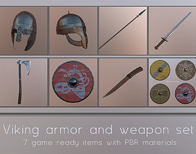 3D model Viking weapons and armor