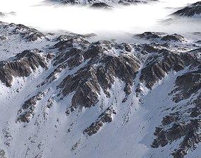 Snowy Terrain MTH043 3D