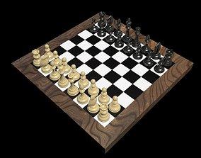 3D asset VR / AR ready chess