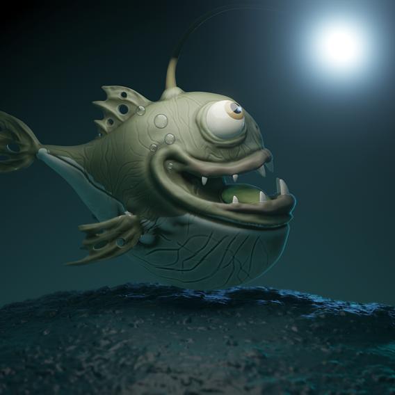 Stylized Angler Fish