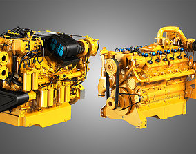 C32 Acert - G3412 Engines - V12 Industrial Engines 2 in 3D