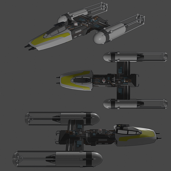 Y-Wing - Toon Shader