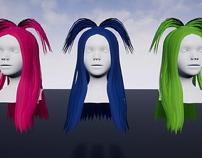 3D asset Hairstyle 4