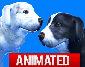 animated Dog 3D model