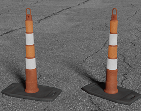 3D cityscape Road Pylon