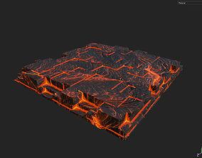 Low poly Lava Temple Block 06 181116 3D model