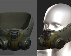 3D model Gas mask helmet scifi fantasy armor hats 2