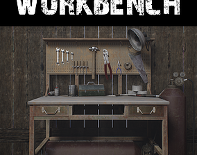 Wasteland Workbench 3D asset low-poly